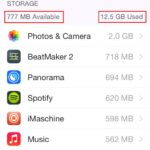 Is the iphone memory full? find and delete the guilty apps