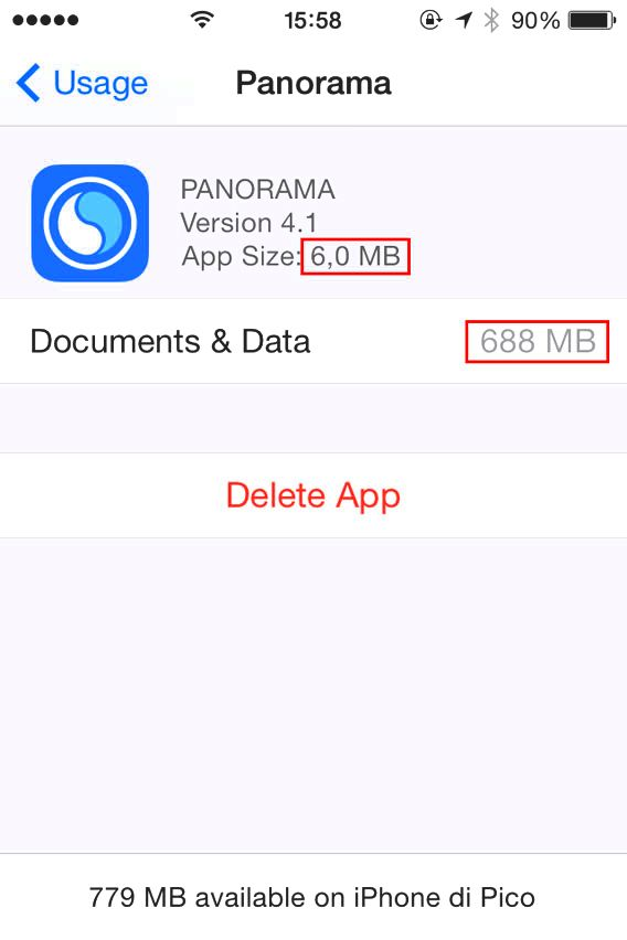 Panorama - documents storage space is huge
