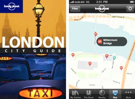 London, Lonely Planet Apple iPhone App, travel guide